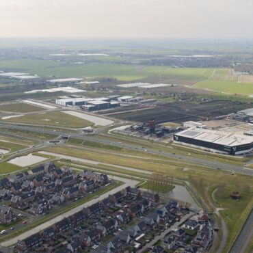 Bedrijventerrein Zevenhuis luchtfoto maart 2021